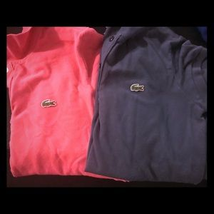 Lacoste Women's Polo Bundle! Pink and Blue!